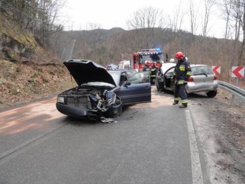 Wypadek w Żegiestowie. Jedna osoba jest ranna