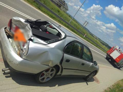 Ciężarówka zderzyła się z Mitsubishi. 3-letnie dziecko trafiło do szpitala