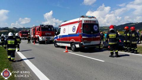 Wypadkowe domino w Kadczy. Uszkodzone trzy samochody