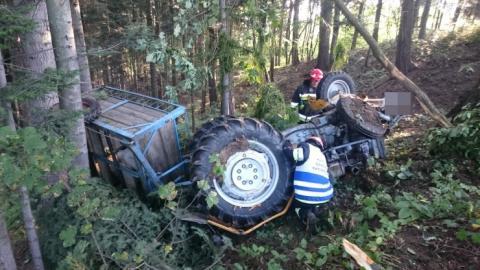 Śmiertelny wypadek w Przyszowej. Rolnika przygniótł traktor