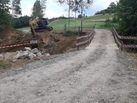 Ruszyła budowa mostu w Korzennej. Mieszkańcy nie muszą obawiać się utrudnień