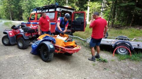 Akcje ratunkowe w Beskidach. Z pomocą poszkodowanym turystkom ruszyli goprowcy