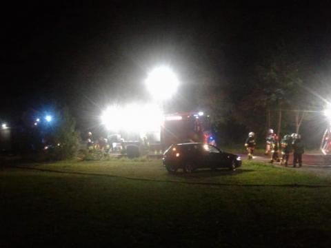 Binarowa, nocny pożar, fot. fb/OSP Biecz