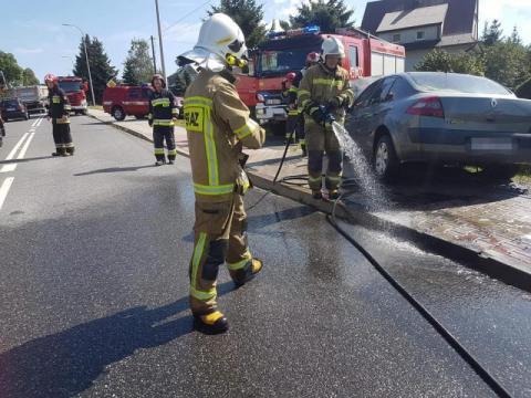 Pożar na drodze krajowej numer 28. Co tam się stało?