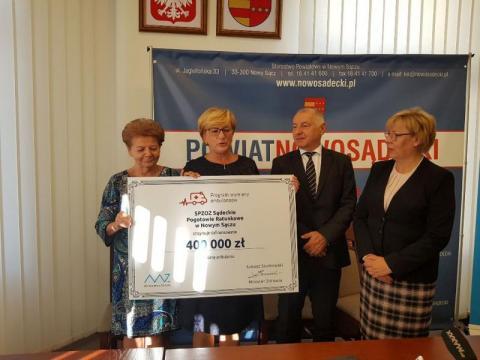400 tys. złotych na zakup karetki dla Sądeckiego Pogotowia Ratunkowego, fot. Iga Michalec