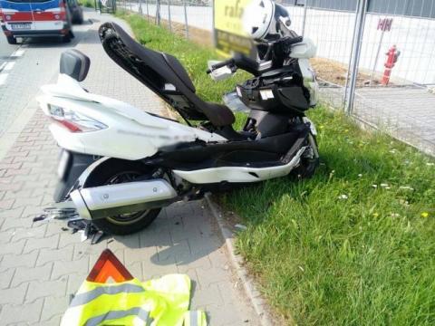 Znów wypadek na ul. Węgierskiej. Motocyklista zakończył podróż w szpitalu