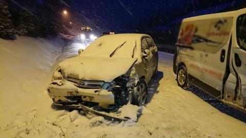 Roztrzaskane auta na ul. Barskiej