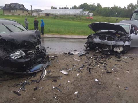 Groźny wypadek w Witowicach Dolnych. Droga była zablokowana