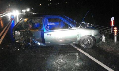 Wypadek w Trzetrzewinie. Zderzyli się na prostej drodze