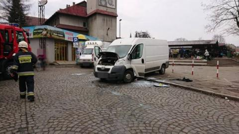 Pożar auta na ul. Matejki