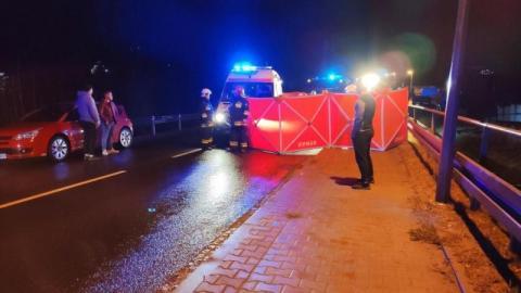 Śmiertelny wypadek w Grybowie. Samochód potrącił 57-latka