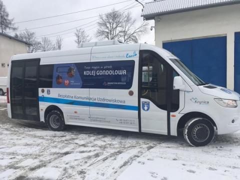 Krynica: w busach komunikacji uzdrowiskowej tylko po 7 osób