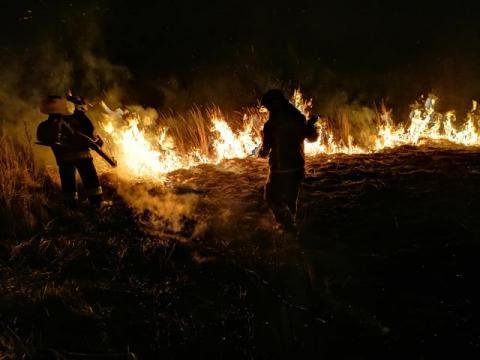 54 strażaków walczyło ze skutkami ludzkiej tępoty!