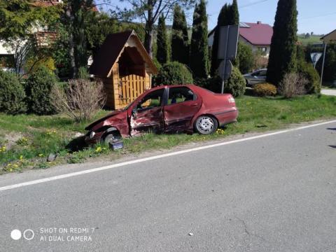 Biczarowa: droga zablokowana i jedna ranna osoba. Co się tu stało?