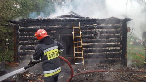 Pożar domu w Krużlowej Wyżnej