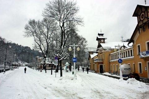 Zima w Krynicy Zdroju