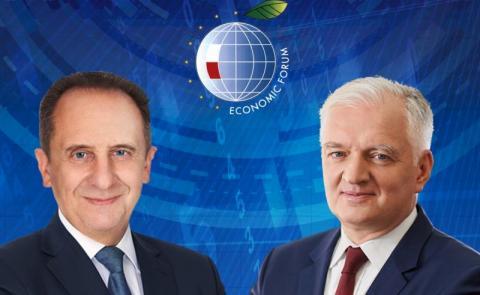 Andrzej Gut-Mostowy w dyskusji o euro w Polsce na Forum Ekonomicznym