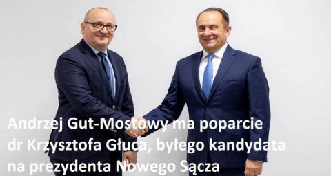 Andrzej Gut-Mostowy ma poparcie dr Głuca
