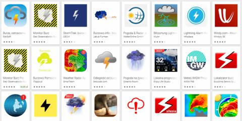 Gdzie jest burza? Aplikacje i radary burz popularne jak nigdy