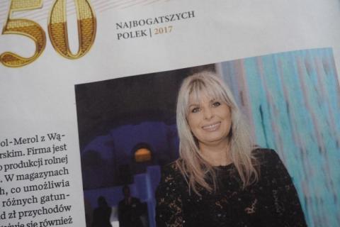 """Barbara Edelmuller – Generaux wśród najbogatszych Polek tygodnika """"Wprost"""""""
