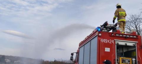 Pożar w Binarowej strawił budynek gospodarczy