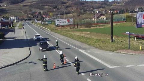 Wypadek w Tęgoborzy. Droga krajowa jest zablokowana
