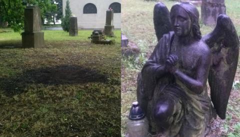 Nowy Sącz: Ty byś zapłacił byś mandat, a na cmentarzu palą śmieci bezkarnie!