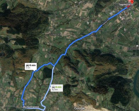 Od jutra zamykają drogę Tęgoborze – Chomranice. Zobacz objazdy