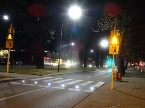 Nowe oznakowanie przejścia dla pieszych, fot. Iga Michalec