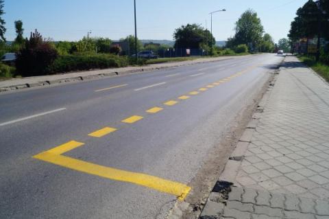 miejsca parkingowe na ul. Krakowskiej już wyznaczone