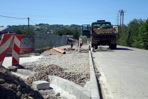 budowa chodnika w Podrzeczu