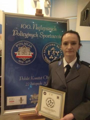 Ewa Bulanda wśród stu najlepszych, policyjnych sportowców
