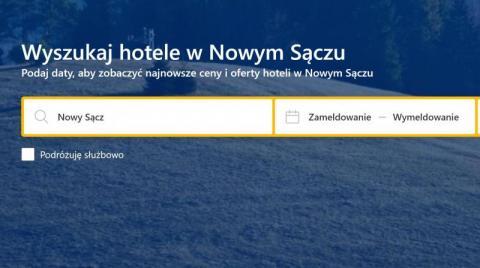 Nowy Sącz: miasto chce pomóc hotelarzom, za pomoc zapłaci rząd