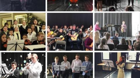 Imponujące umiejętności młodych muzyków, domowe nagrania i wirtualny koncert