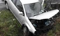 wypadek w Bobowej. BMW w potoku