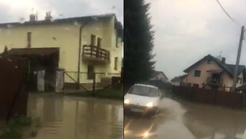 Przy Axentowicza jest nowe, prywatne jezioro! Skąd się wzięło? [FILM]