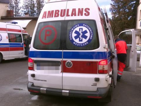 Gorlice: samochód potrącił mężczyznę. Poszkodowany zabrany do szpitala