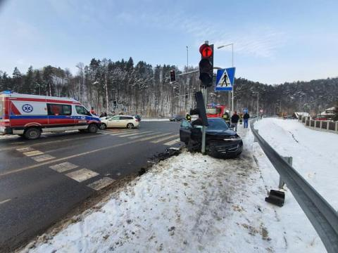 Na obwodnicy Muszyny zderzyły się dwa auta. Występują utrudnienia w ruchu!
