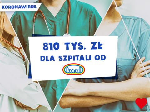 Koronawirus: 810 tys. zł i zamrażarki z lodami w szpitalach od firmy Koral
