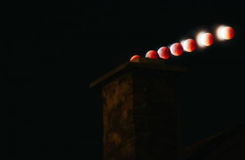 Zaćmienie Księżyca. Fot. Mateusz Indyk