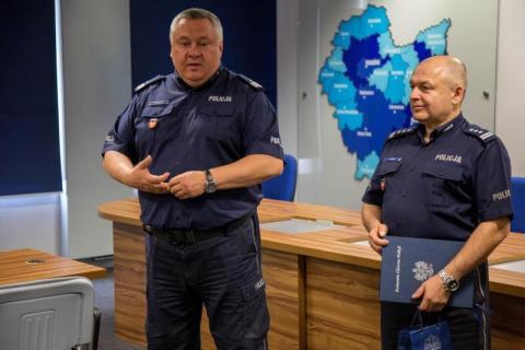 Rafał Leśniak zastępcą komendanta wojewódzkiego policji, fot. KWP w Krakowie