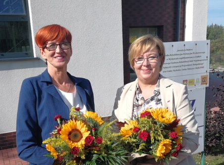 Minister Elżbieta Rafalska i Marta Mordarska