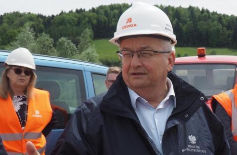 """Jak znowu dręczyliśmy ministra Adamczyka w sprawie budowy """"sądeczanki""""[WIDEO]"""