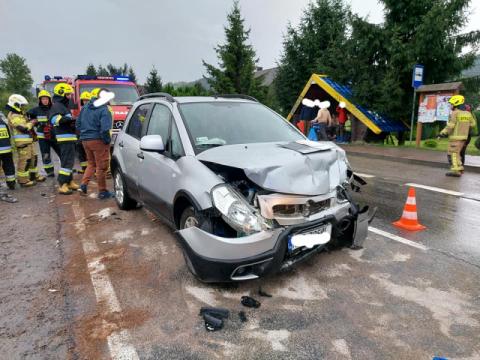 Wypadek w Mszanie Górnej. Zderzyły się aż trzy samochody