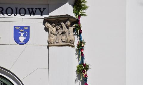 Krynica: Niedziela Palmowa, bez wiernych w kościele, święcenia palemek
