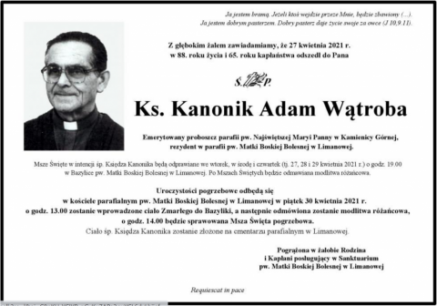 ks. kanonik Adam Wątroba