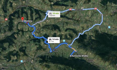 Mystków-Kamionka Wielka: kolej całkowicie zamknie drogę na tej trasie