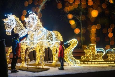 Magiczny Park Światła na Górze Parkowej w Krynicy-Zdrój zaprasza!