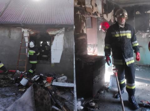 Straciła dom w pożarze: - Gotuję obiad i łapię się na tym, że nie mam nawet durszlaka, ale najbardziej potrzebujemy drogi