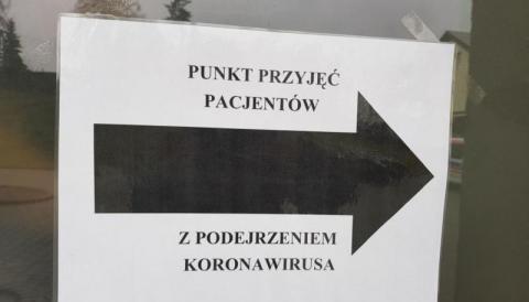 Punkt przyjęć pacjentów z podejrzeniem koronawirusa. Fot. Iga Michalec